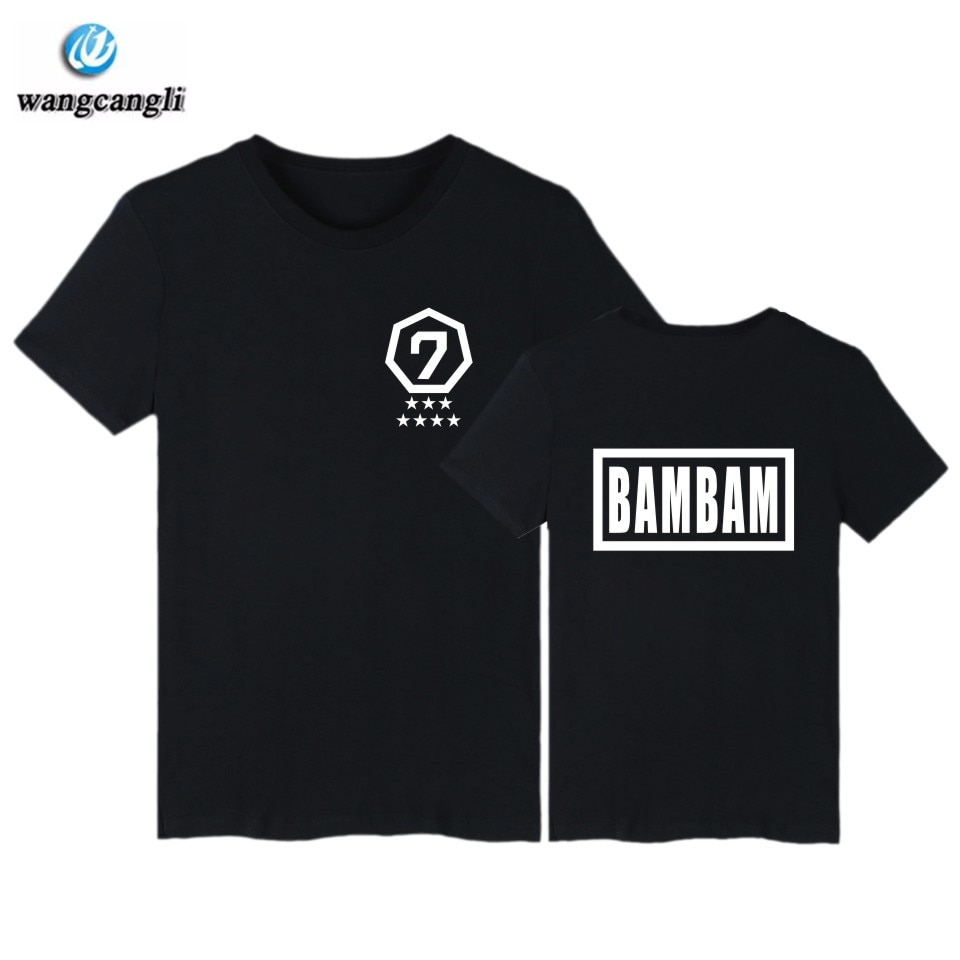 Tengo 7 BAMBAM T camisa de los hombres/mujeres GOT7 Kpop JB Jackson Camiseta de manga corta Tops de verano, Hip Hop Camiseta de algodón T camisas XXS-4XL