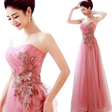 ALIMIDA Elegant Evening Dress Long 2018 Crystal Stunning Party Dresses 3D Flower A-Line Prom Dress Strapless robe de soiree