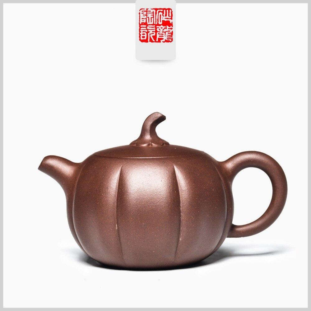Tetera de 170ml Yixing original mine master manual púrpura con cuentas redondas de barro, tetera de Kung Fu, tetera de regalo, Decoración de mesa de té, tetera personalizada