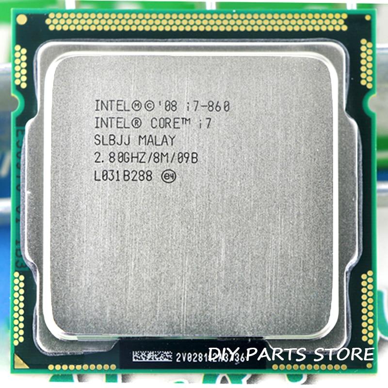 Процессор Intel Core I7 860 I7-860 I7 2,9 ГГц/8 Мб разъем LGA 1156 cpusuplied память DDR3-1066, DDR3-1333