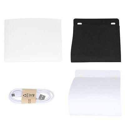 NEW TYPE Mini Folding Studio Diffuse Soft Box With LED Light Black White Background Photo Studio Accessories photo studio box enlarge