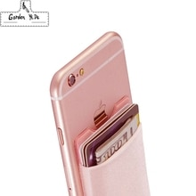 Эластичный лайкровый Чехол-бумажник для сотового телефона, держатель для карт, карман на 3 м клейкой основе, черный/серый/розовый/золотой/зеленый/синий/коричневый
