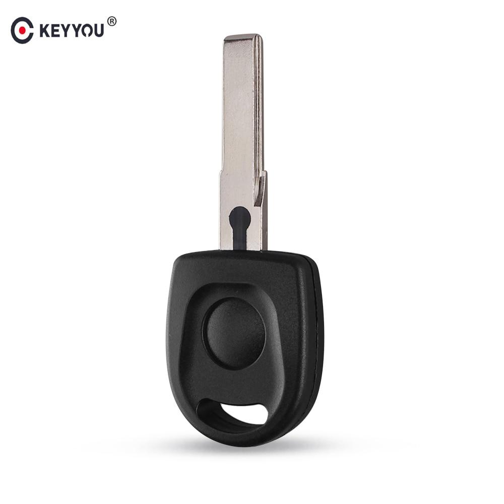 Keyyou remoto carro chave em branco escudo para volkswagen (vw) b5 passat transponder chave hu66 lâmina