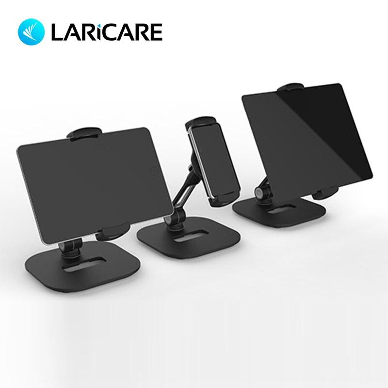 LARICARE soporte de aluminio para teléfono tableta soporte giratorio ajustable soporte para tableta soporte de coche