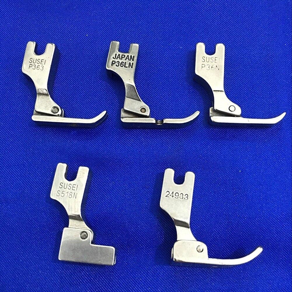 5 uds prensatelas para Juki Máquina De Coser Industrial S518N P36LN P36N P35 P363 (plata) AA7196