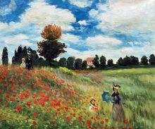 Peinture à lhuile sur toile peinte à lhuile   Paysage, peinture à lhuile sur le mur de Claude Monet, toile peinte à la main