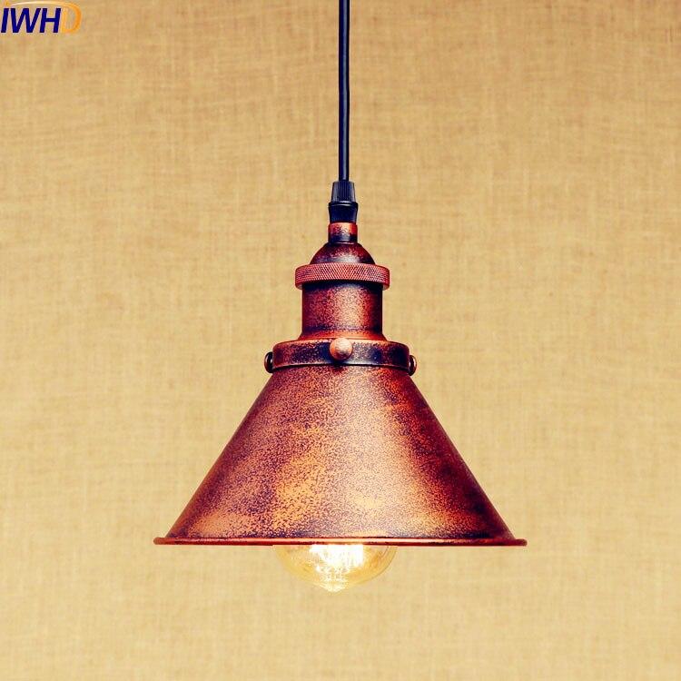 IWHD Rost Retro Edison LED Anhänger Lichter Leuchten Bar Kaffee Stil Loft Industrie Vintage Lampe Rustikalen Lamparas Colgantes