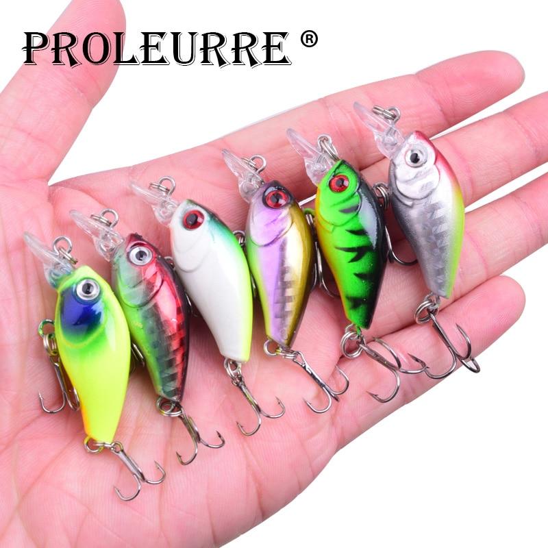 1Pcs crank fishing Lure 48mm 3.8g Topwater swimbait Wobblers lures crankbait artificiali Hard bait for bass pesca Fishing Tackle