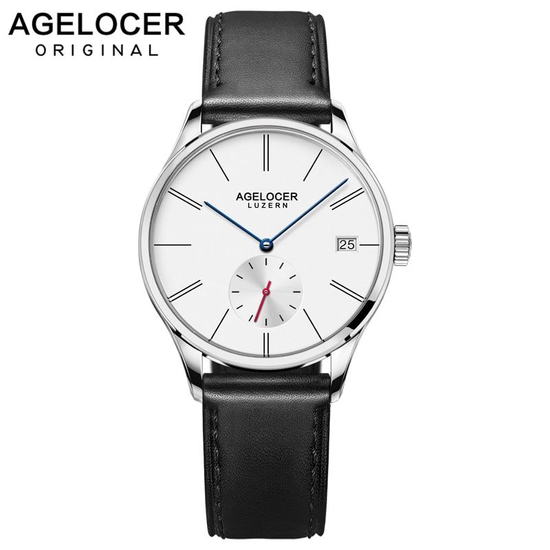 Agelocer Switzerland Top Brand Luxury Women Watch Leather Wrist Bracelet Fashion Ladies Wristwatch relojes mujer montre femme