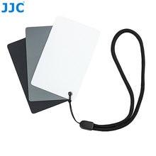 JJC Camera DSLR SLR Film fotografia małe narzędzie WB 8.5x5.4cm balans bieli cyfrowa 18% szara karta do Canon/Nikon/Sony/Pentax