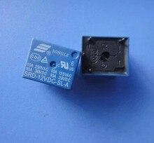Mini relais dalimentation SPDT 12V   5 pièces, bobine 4 broches, Type PCB