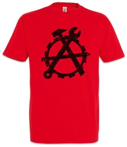 Workers Anarchy T-Shirt Socialism Communism Hammer  Sickle Karl Marx Class