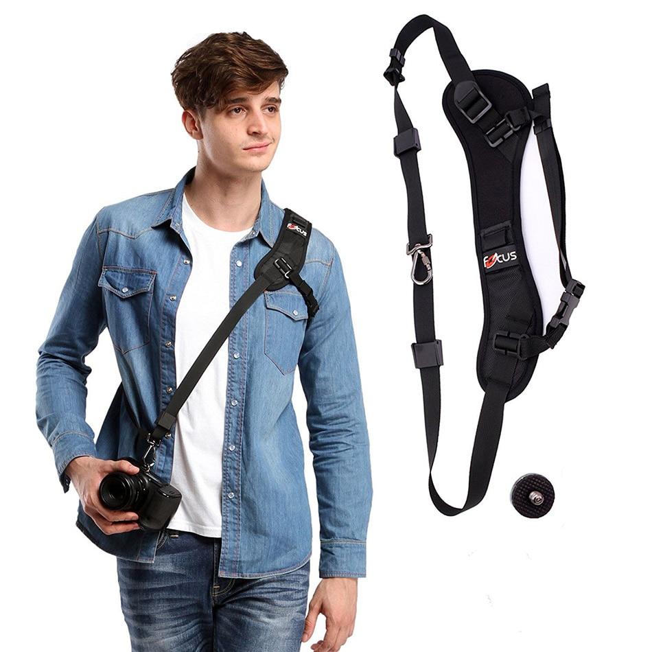 F-1 Quick Rapid Camera Single Shoulder Sling Neck Strap For Nikon Sony Pentax Canon 7D 5D MarkII D800 A77 ALL DSLR SLR DV Camera