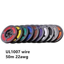 50 m/grup 164ft UL1007 22 AWG Kablo Bakır Tel Esnek Telli 10 RENKLER 22awg Elektrik Telleri Kabloları DIY Ekipmanları Tel