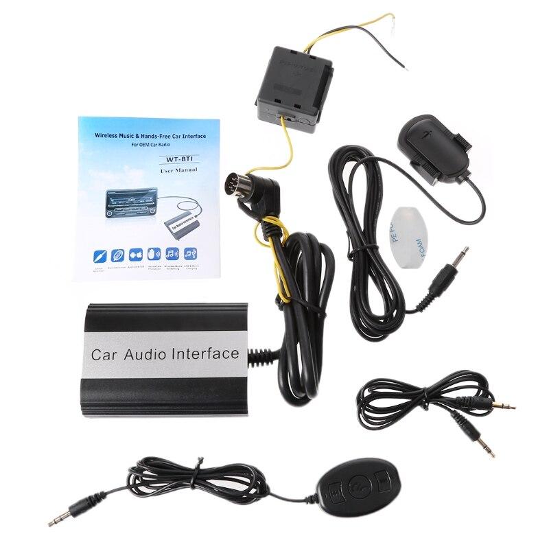 Ootdty handsfree carro bluetooth kits mp3 aux adaptador interface para volvo hu-série s60-m15