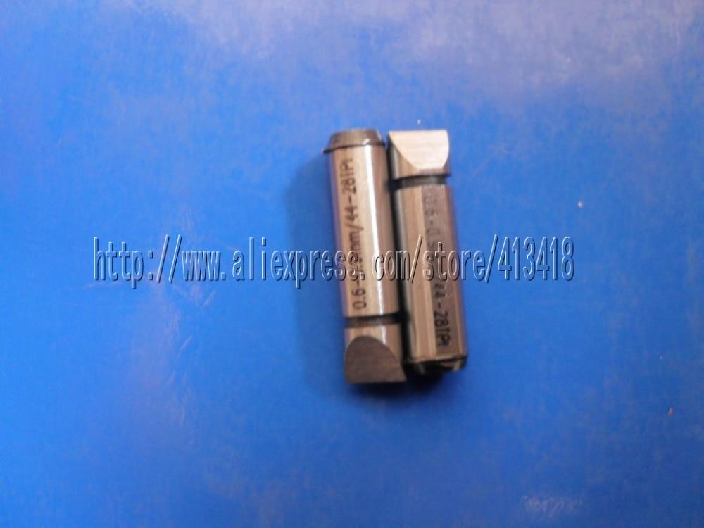 Cabezal de medición métrico 0,6-0,9 para micrómetros de rosca de tornillo Digital. anvils en forma de V y con filo de cuchillo