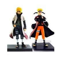 "2PCS Uzumaki Naruto Namikaze minato Figure 6"" PVC Toy gift New in box"