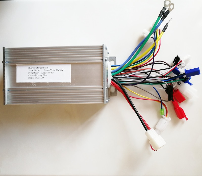 Silent 60/120 Angle  24v 36v 48v 500W BLDC Controller E bike Controller Hub motor controller