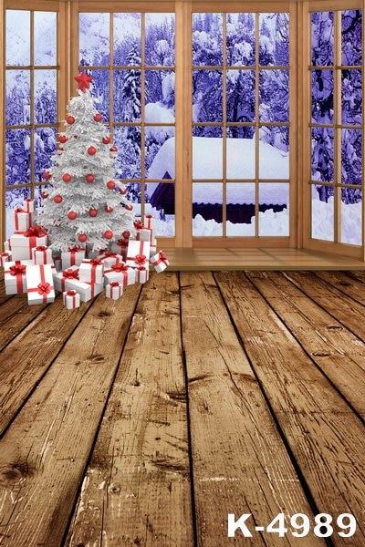 Piso de Madeira Fotografia Fundos de Natal personalizado 150x220 cm Crianças Celebração Festival Decoração Casa Backdrops Vinil