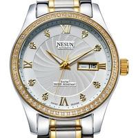 Switzerland Business Brand NESUN Watch Men Automatic Self-wind Men's Watches Diamond Stainless Steel Waterproof clock N9123-3