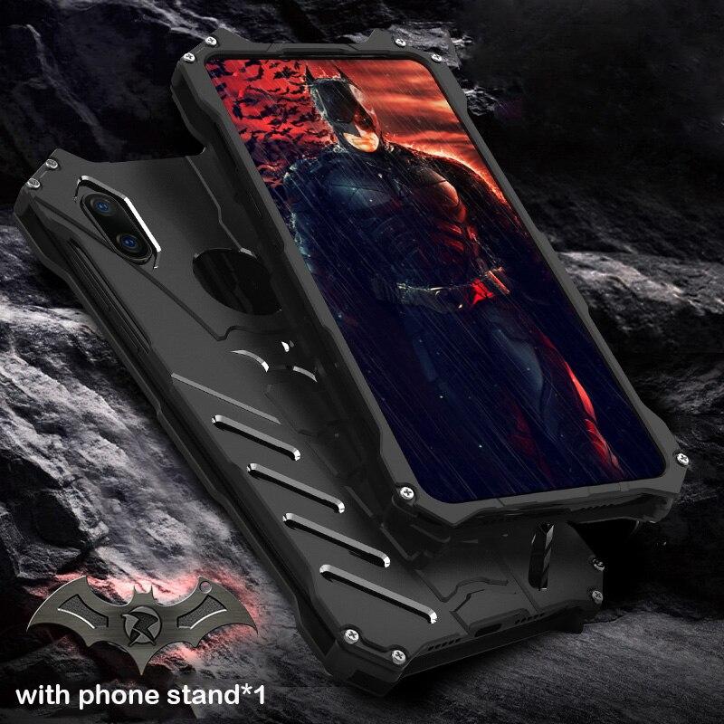"""Para Xiaomi mi x 3 funda R-JUST Batman lujosa caja de metal de aluminio para Xiaomi mi x 3 6,39 """"funda de teléfono Coque Xio mi X3"""