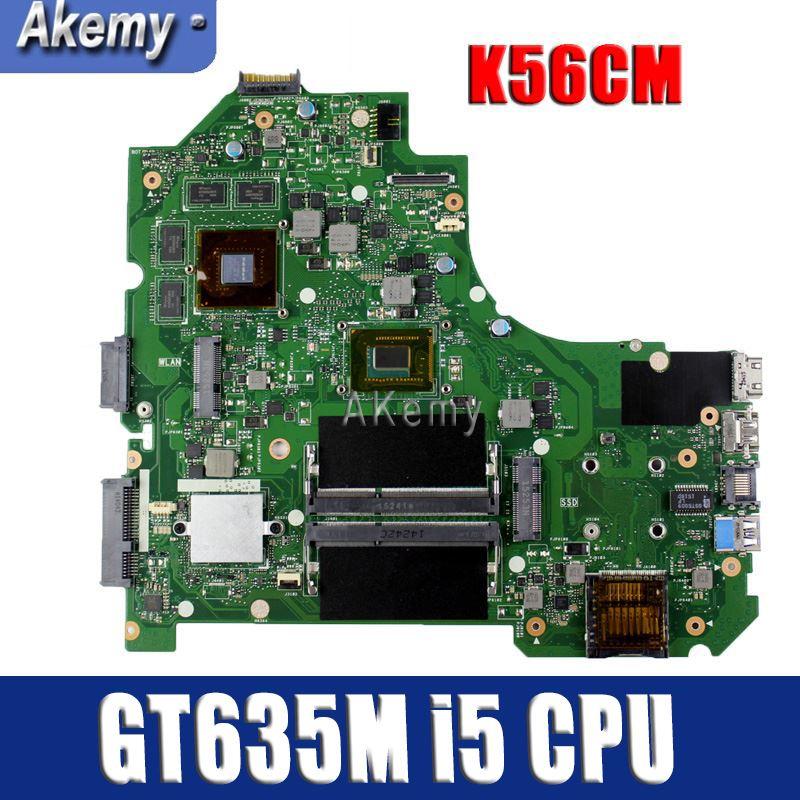 Amazoon K56CM Laptop motherboard para ASUS K56CM K56CB K56C S550CM S550C Teste mainboard original I5 CPU GT635M-2G