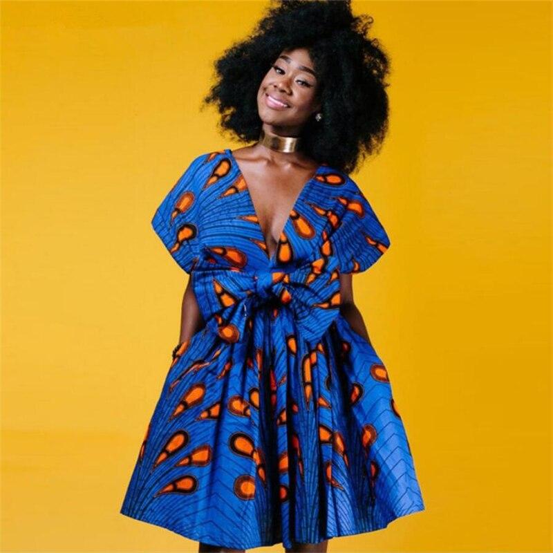 Moda sexy africano roupas para mulher 2020 envoltório bandagem vestido sem alças pop estilo arte vestido sem costas, 3 opções de uso