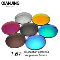 qianjing 1 67 cr 39 polarized sunglasses prescription optical lenses for driving fishing uv400 anti glare polarized myopic lens