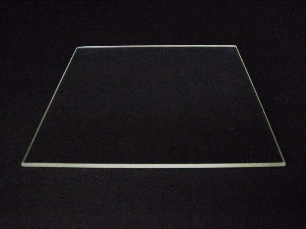 Borde pulido de cama de placa de vidrio de borosilicato 310mm x 370mm para impresora Tevo Tornado 3D cama caliente