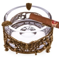 large crystal cigar ashtray luxurious bronze carving butterfly ashtray ce 0129