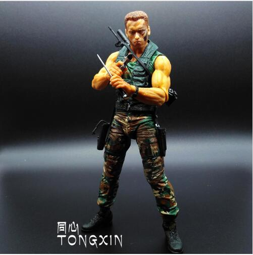 NECA Movie 25th Predator Alien Arnold Schwarzenegger Patrol Dutch Extraction Dutch Jungle Hunter 18 см игрушка ПВХ фигурка модель S108