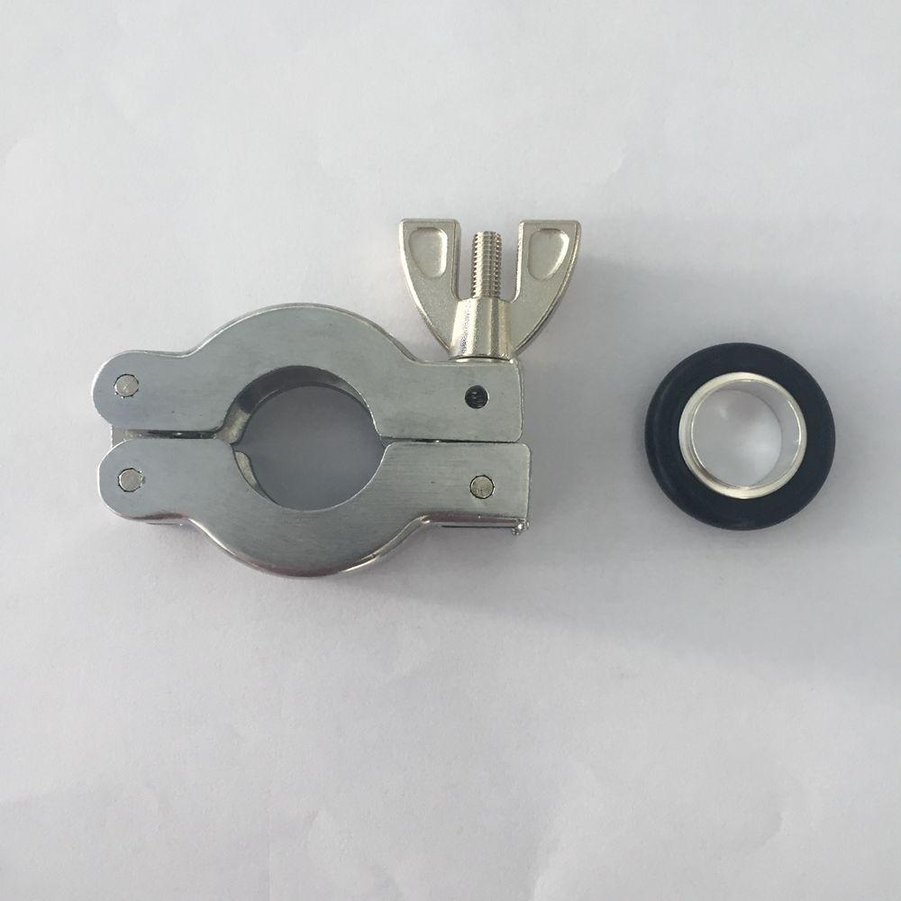 1 pieza, KF10 KF16 KF25, pinza de bomba AL vacío, las piezas de montaje contienen juntas tóricas, soporte de aluminio