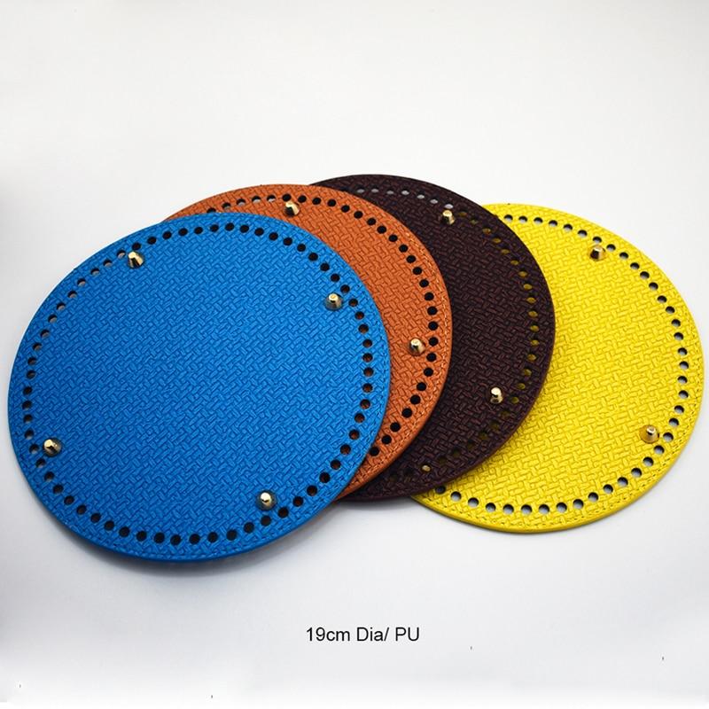 2019 nuevo bolso de hombro tejido a la moda bandeja inferior placa redonda reemplazo para bolso de Mujer Accesorios Diy hechos a mano KZBT024