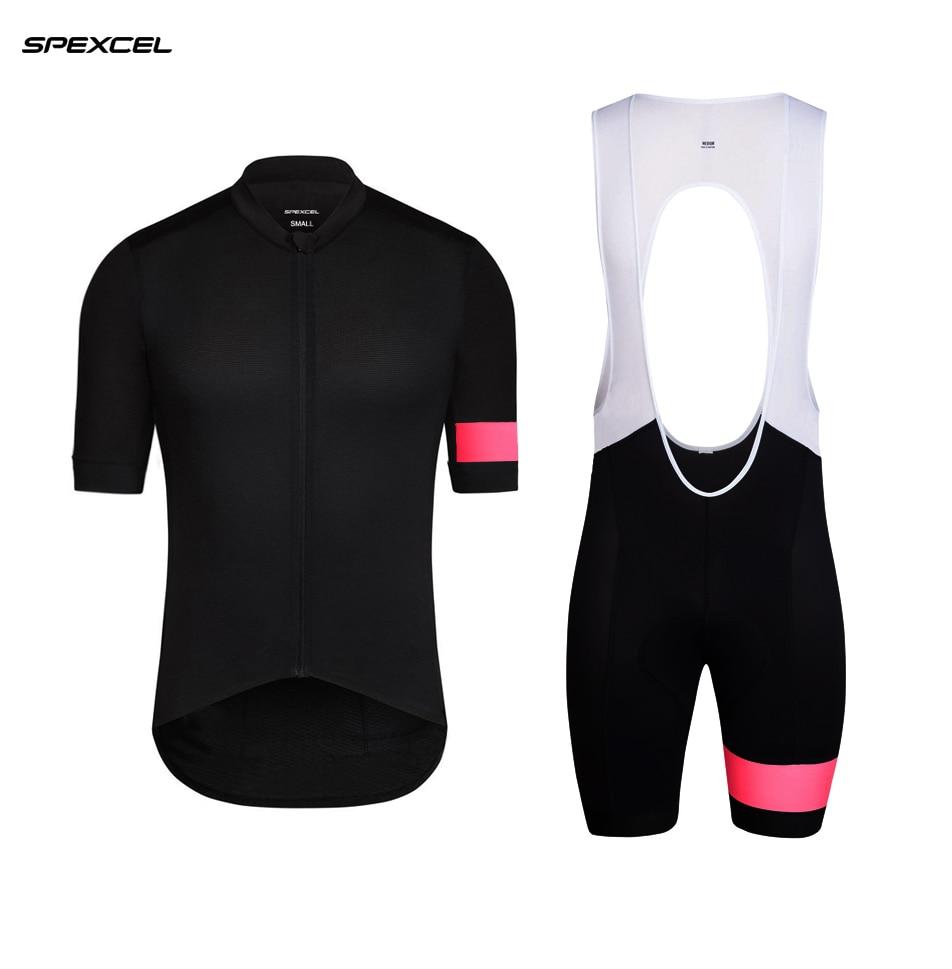 Спортивный костюм SPEXCEL, черный, розовый, с коротким рукавом, для велоспорта