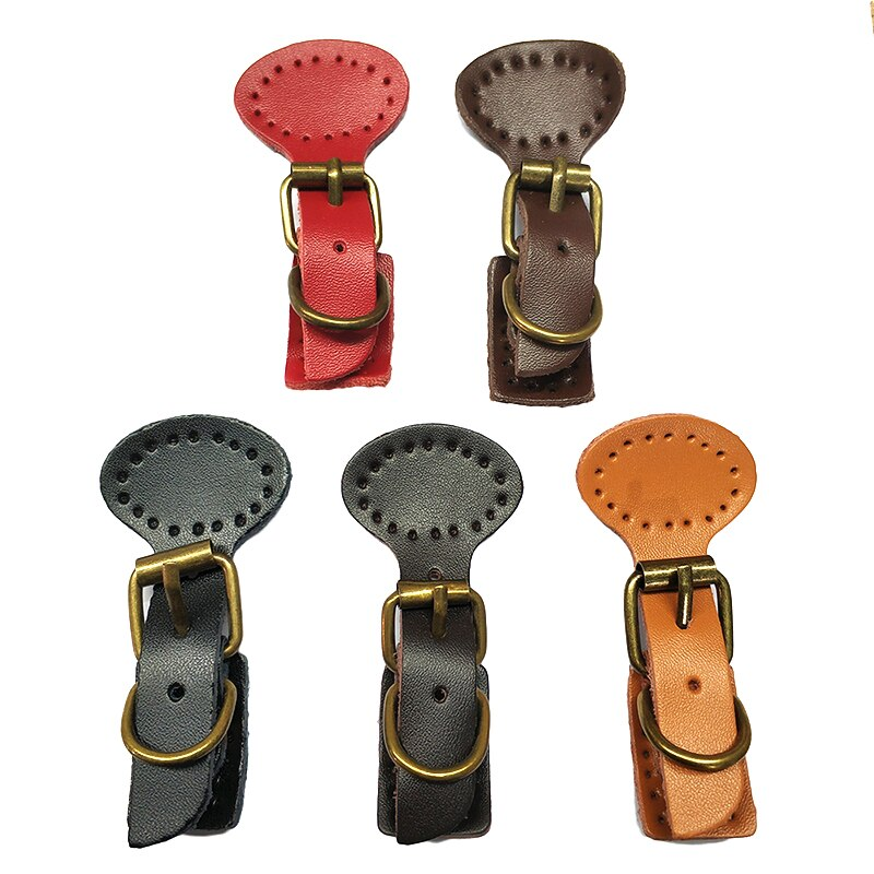2 unids/lote, cierre de bolsa de repuesto con hebilla magnética de cuero para coser, hecho a mano, accesorios KZ0263