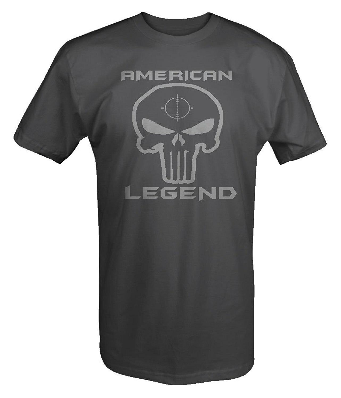 2019 moda verano estilo Punisher calavera sombra edición Ejército Americano Sniper Legend camiseta