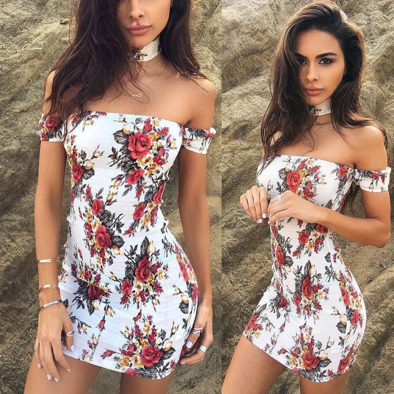 Women Off Shoulder Summer Boho Chiffon Beach Dress Floral Print Mini Dresses Ladies Womens Floral Sexy Brief Sundress 2pcs