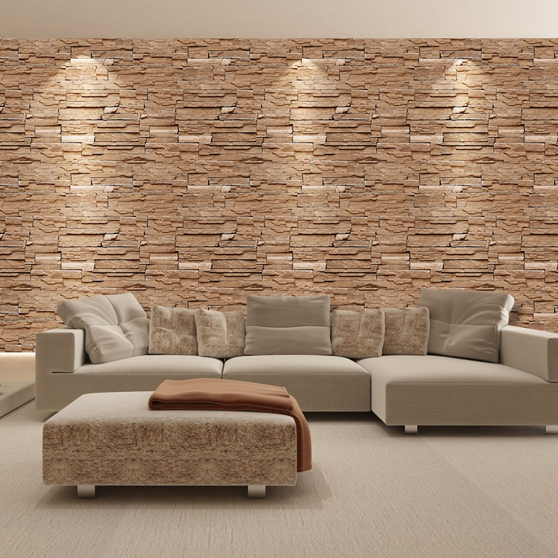 SA-1031 Home Decor 3D PVC Wood Grain Wall Stickers Paper Brick Stone Rustic Effect Self-adhesive Home Decor Sticker Room home decor 3d pvc wood grain wall stickers paper brick wallpaper self adhesive home decor kids room wallpaper brick