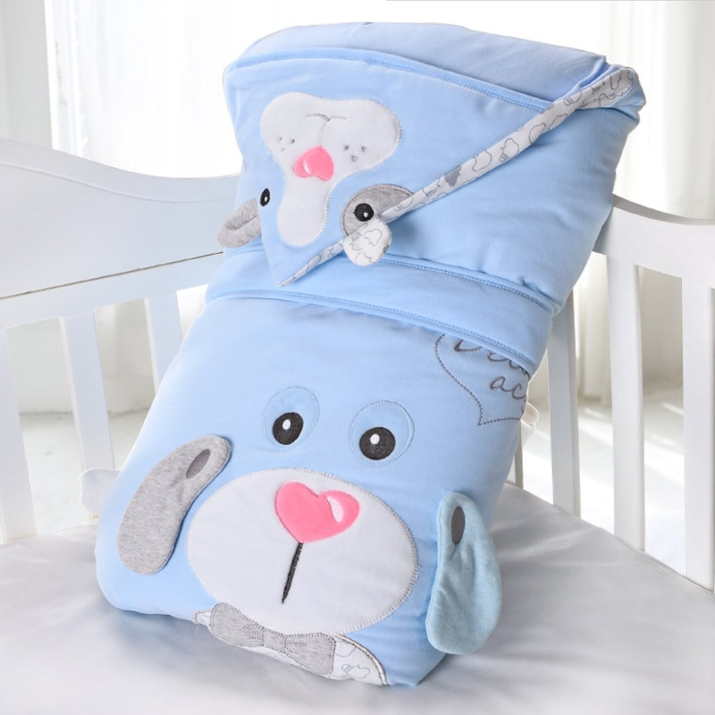 Manta gruesa para bebé recién nacido de otoño e invierno, manta extraíble para bebé