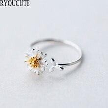 Nieuwe Zilveren Kleur Daisy Bloem Ringen Voor Vrouwen Maat Verstelbaar Ringen Mode Bruiloft Sieraden Anillos Mujer
