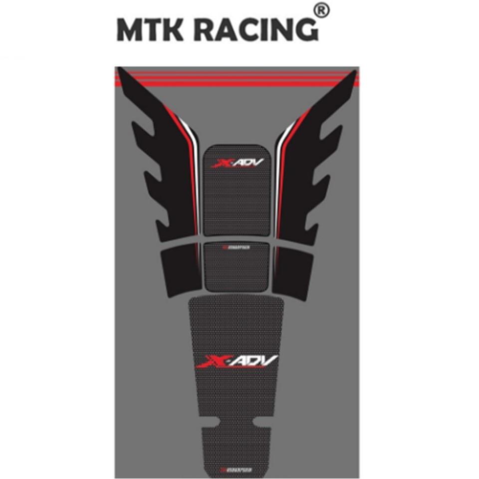 Mtkracing motocicleta 3d adesivo almofada do tanque de combustível adesivo protetor para honda xadv 750 x adv xadv750 2017 2018 2019