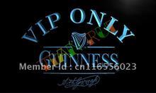 LA426- VIP Only Guinness Beer LED Neon Light Sign