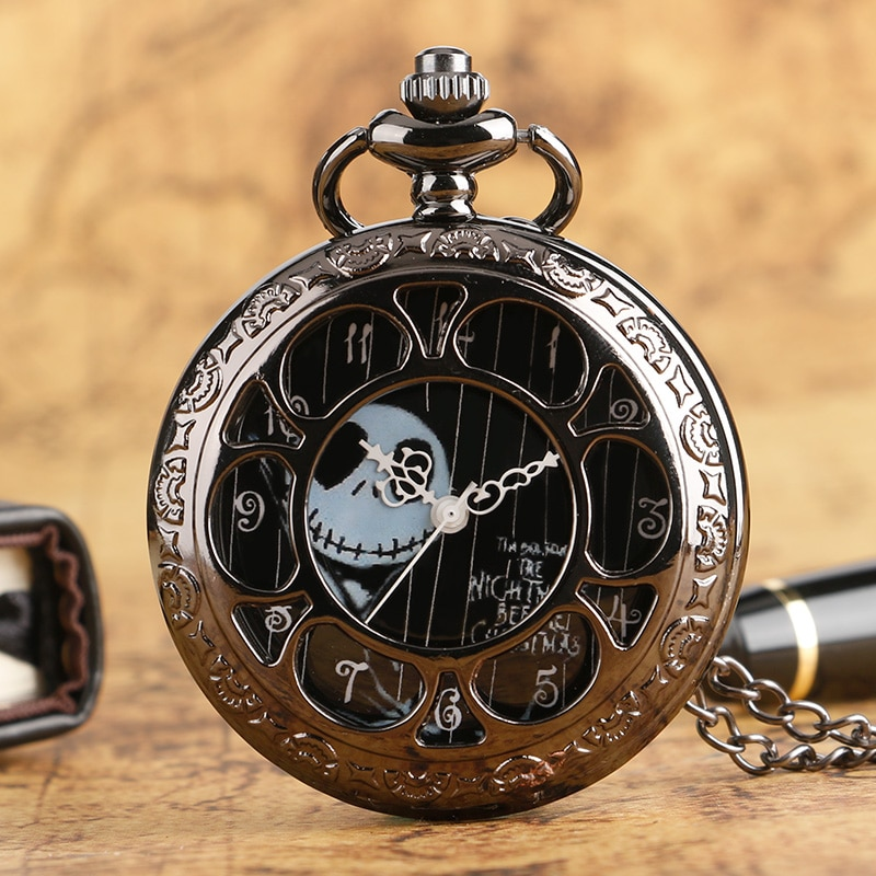Collar de bolsillo con diseño de Jack de flores para reloj, pulsera...