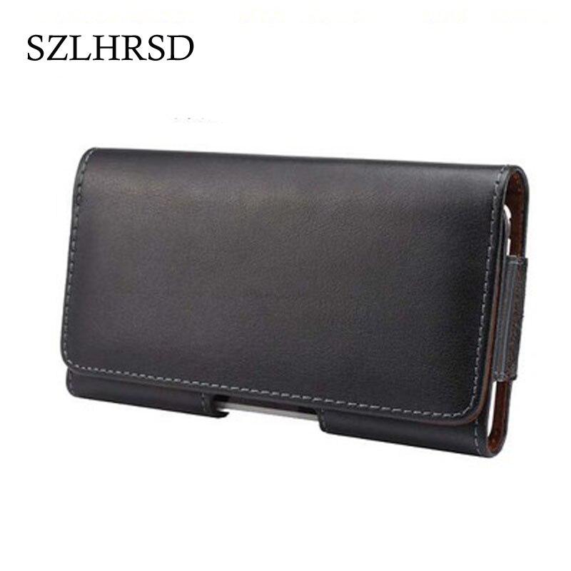 SZLHRSD Universal Genuine Leather Belt Clip Phone Pouch Bag for Blackview A10/Irbis SP551 /Gretel S55/HomTom S9 Plus/Maze Alpha