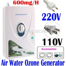 Haute qualité 600 mg/h 220V 110V générateur dozone ozonateur ioniseur O3 minuterie purificateurs dair huile végétale viande fraîche purifier lair eau