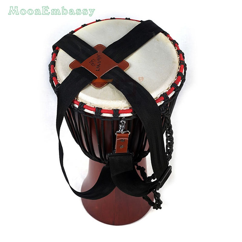 Correa djembé profesional de mano africana, accesorios de percusión con correa de tambor, envío gratis