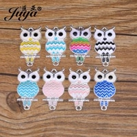 juya 5pcs colorful owl charms for jewelry making alloy connector diy handmade pendants bracelets earrings crafts accessories
