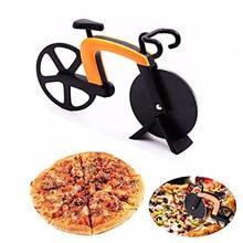 Bicyclette coupe-Pizza roue en acier inoxydable   Rouleau de vélo en plastique, hachoir à Pizza trancheur Gadget de cuisine E2S