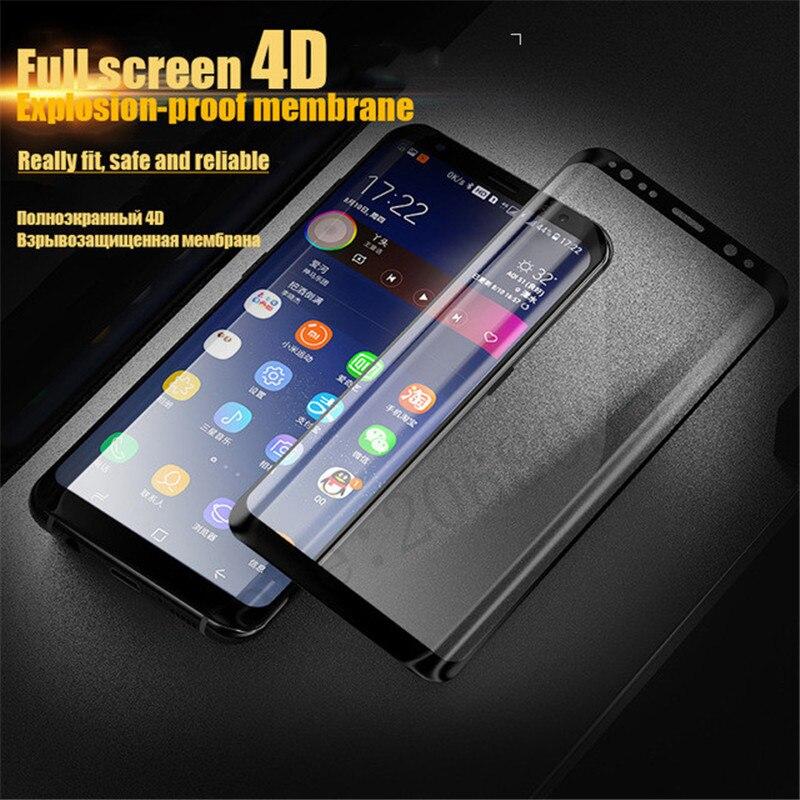 4D Curvo Completo S8 S9 Mais Protetor de Tela de Vidro Temperado Para Samsung Galaxy Capa Explosão-prova Para Samsung S8 nota Vidro 8