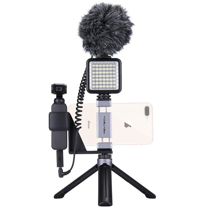 DJI Osmo Pocket Accessories Phone Holder Mount Bracket / Microphone Adapter / PGYTECH Tripod Bracket for Osmo Pocket Stabilizer